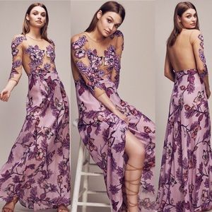 For love and lemons Sierra maxi in berry sz small